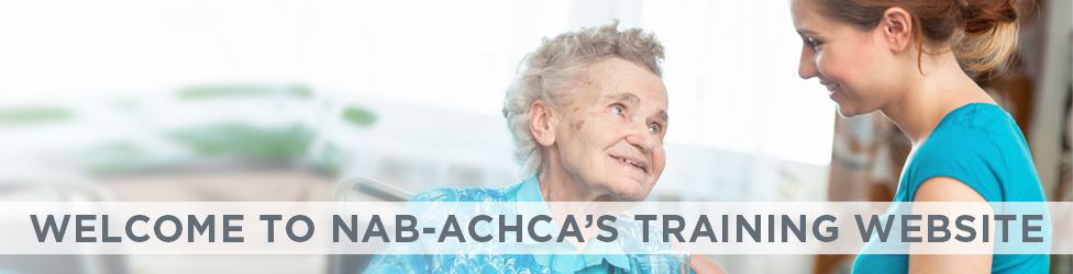Welcome to NAB-ACHCA's Training Website
